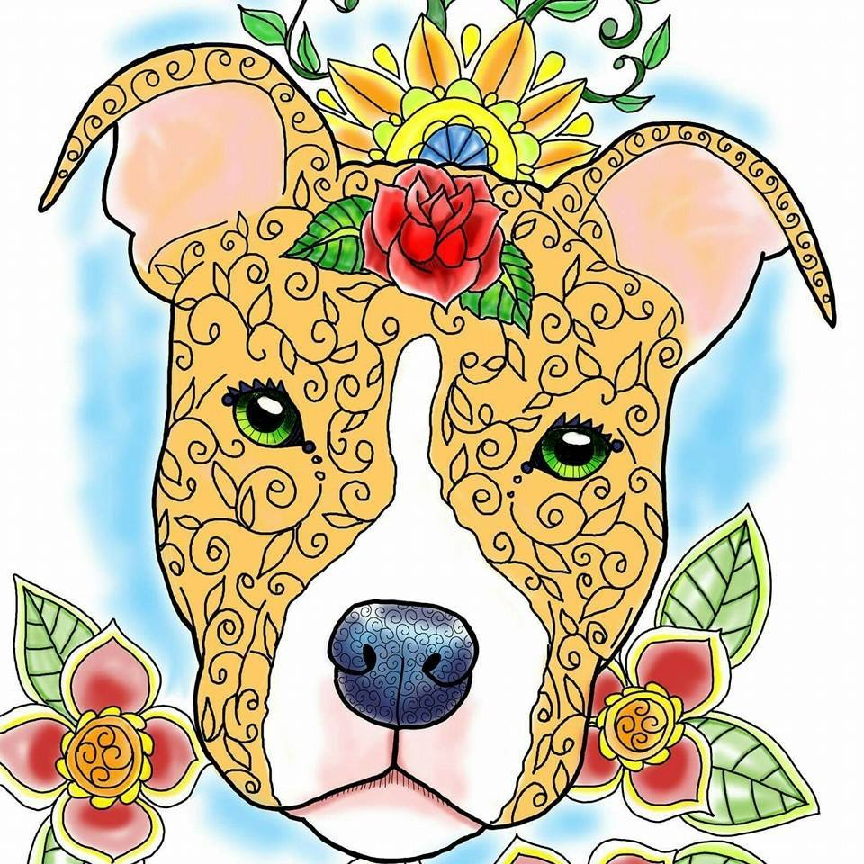 artbyeddy pit bull coloring book philosophy of dog