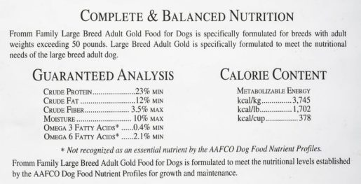 Fromm Nutritional Statement