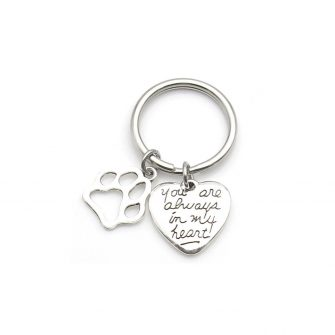 Dog Memorial Keychain