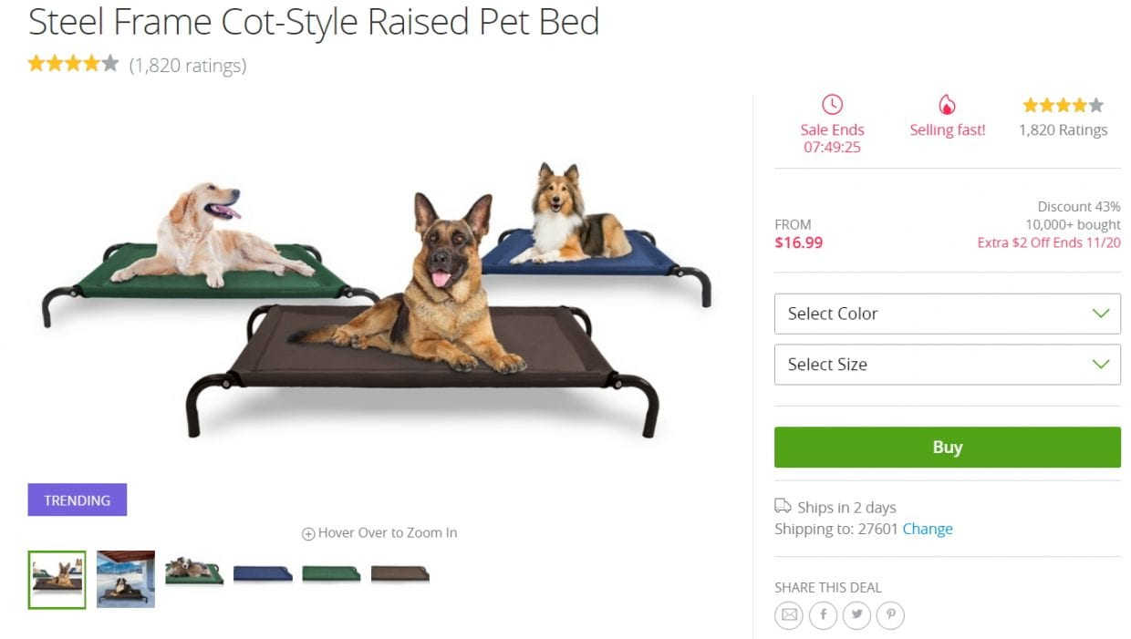 Cheap Dog Cot Bed