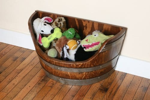 Wine Barrel Creations Pet Toy Box
