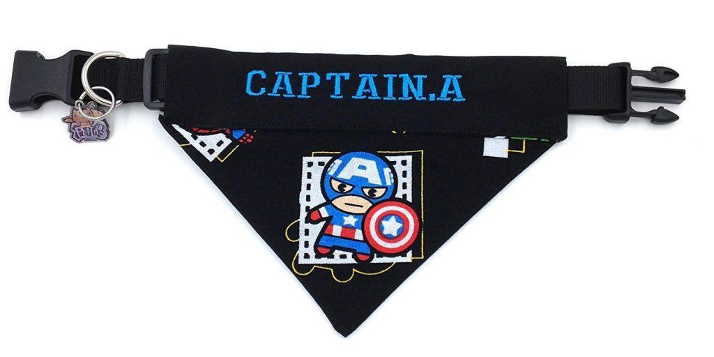 Captain America Bandana Collar
